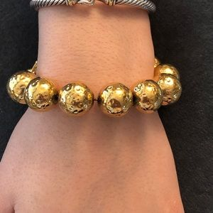 AKII gold beaded bracelet